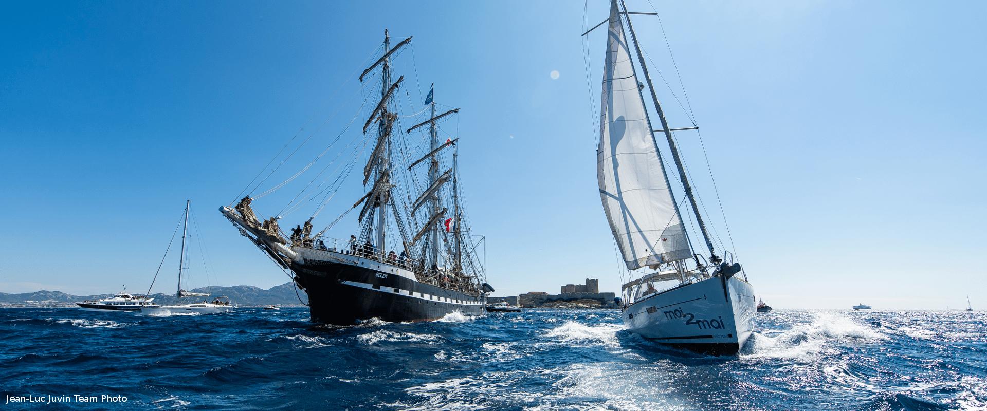 Belem accueil Marseille Armada