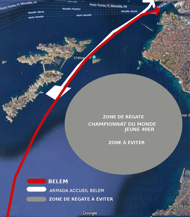 parcours officiel Accueil Belem Armada