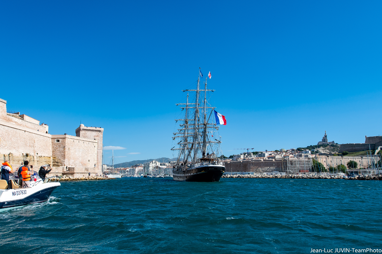 Belem avant port Marseille