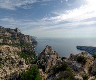 rochers et mer des calanques