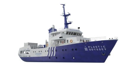 Le navire Plastic Odyssey