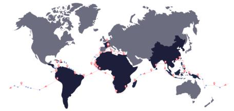 Trois ans d'excursion sur trois continents pour le navire Plastic Odyssey. ©PlasticOdyssey
